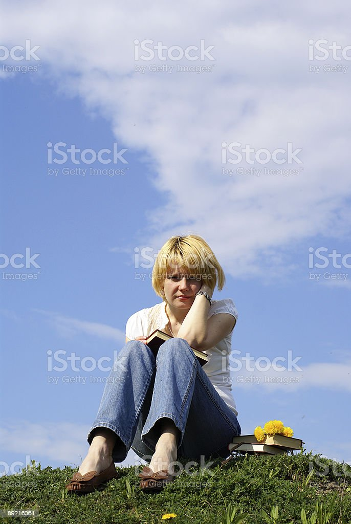 worried student royalty-free stock photo