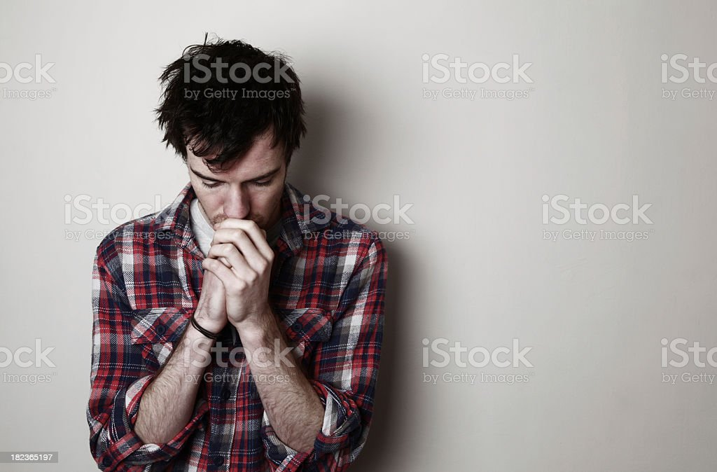 Worried young adult stock photo