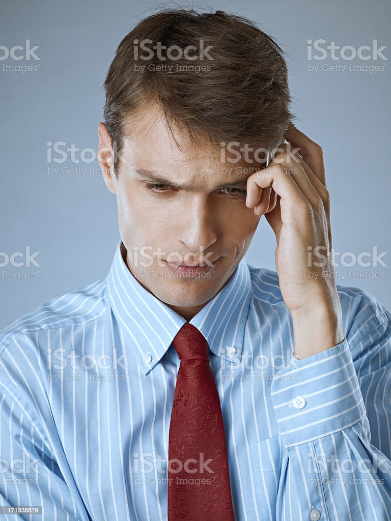 worried young businessman royalty-free stock photo