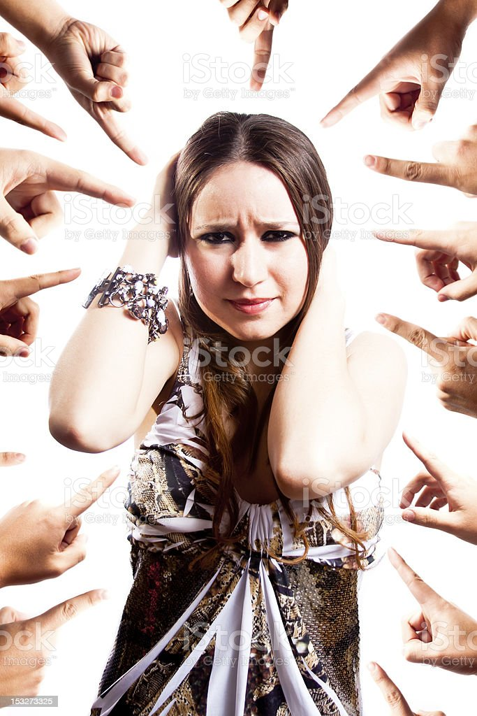 Worriedhands stock photo