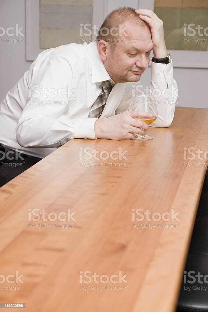 Worries and Alcohol royalty-free stock photo