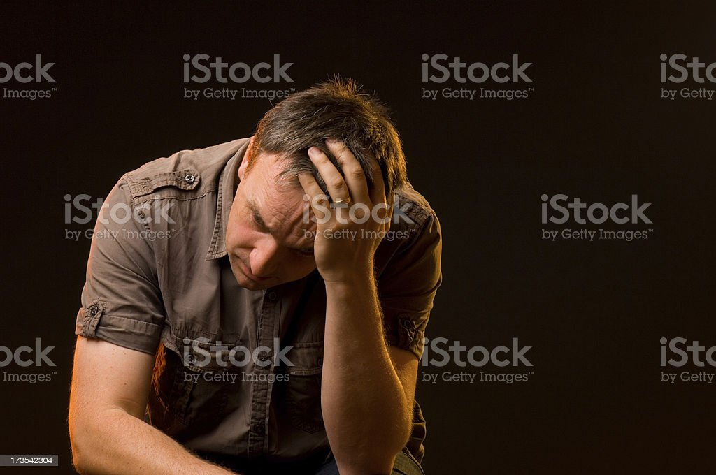 worry royalty-free stock photo