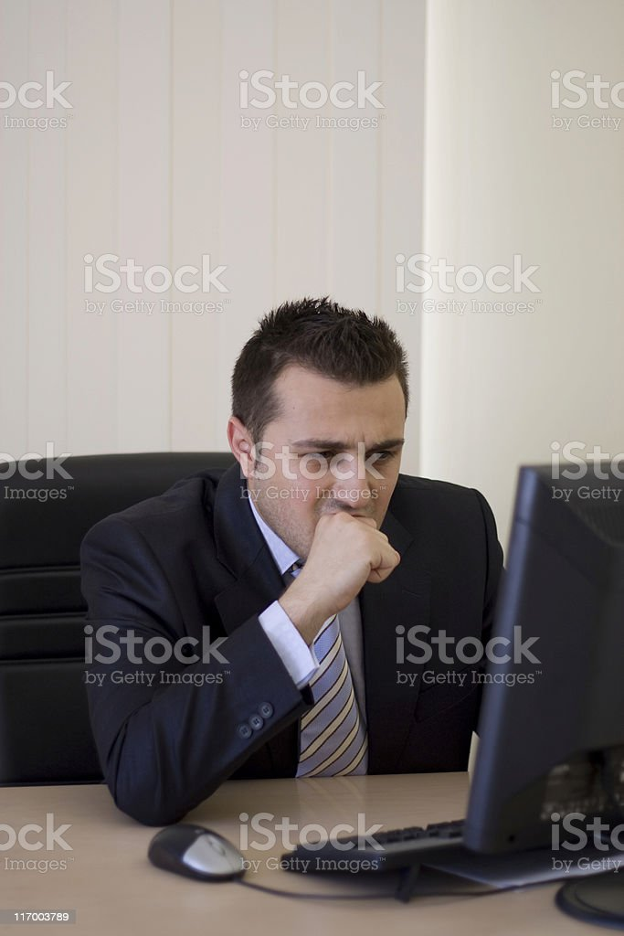 Worrying businessman royalty-free stock photo