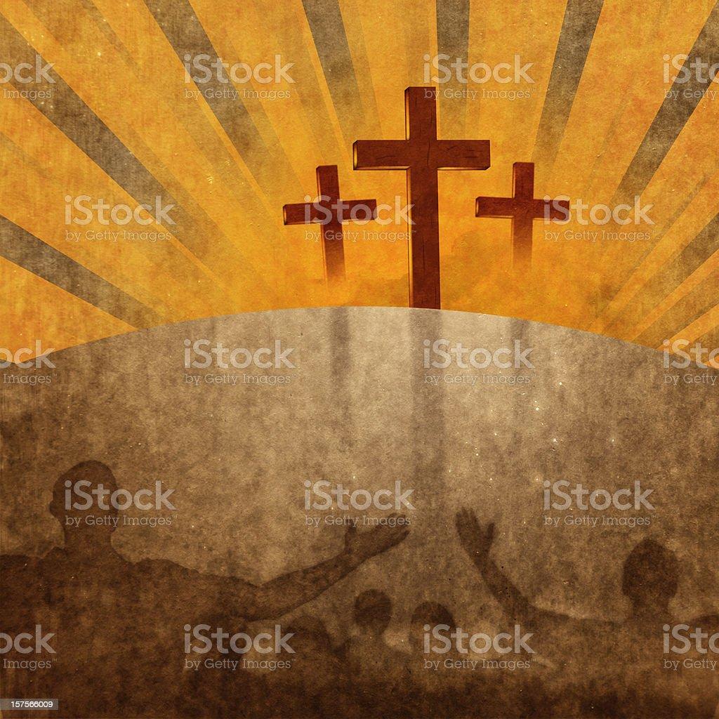 Worship at the Cross stock photo