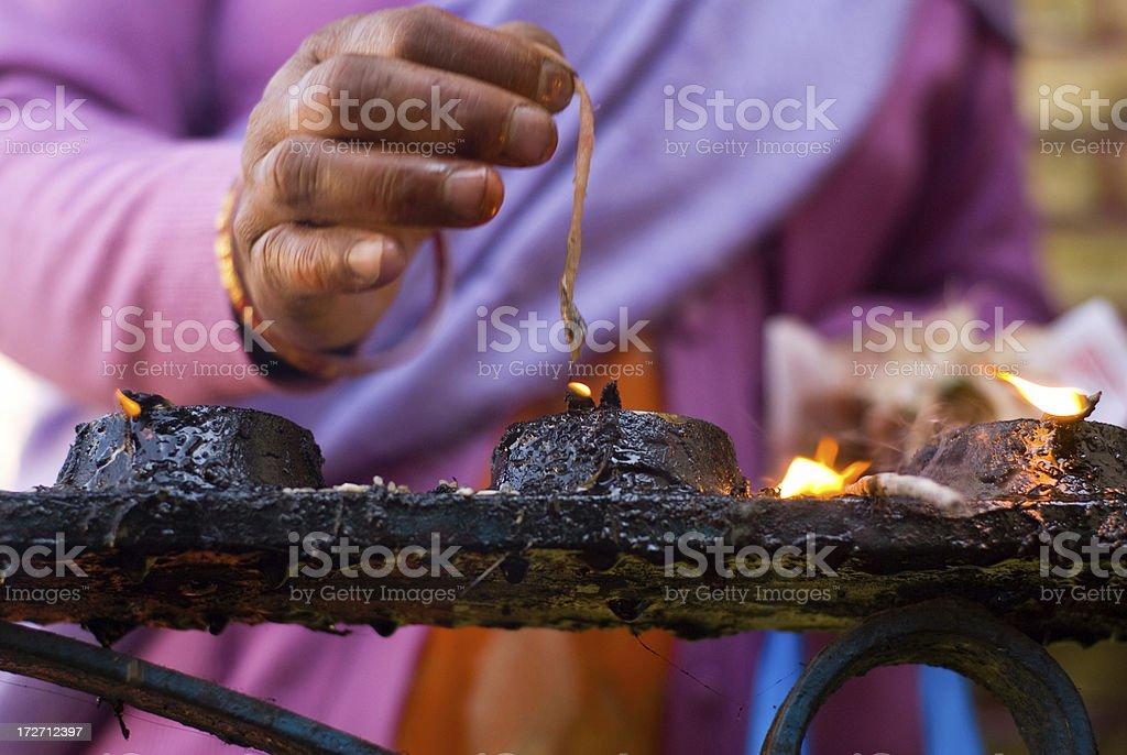 worship by lighting stock photo
