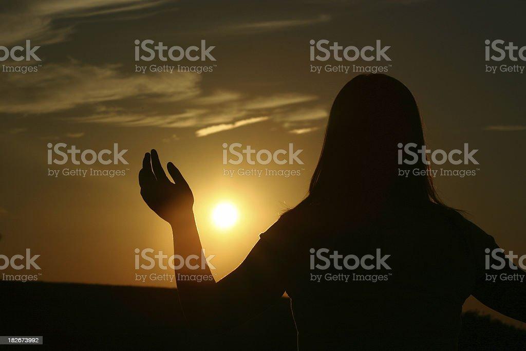 Worship Girl royalty-free stock photo