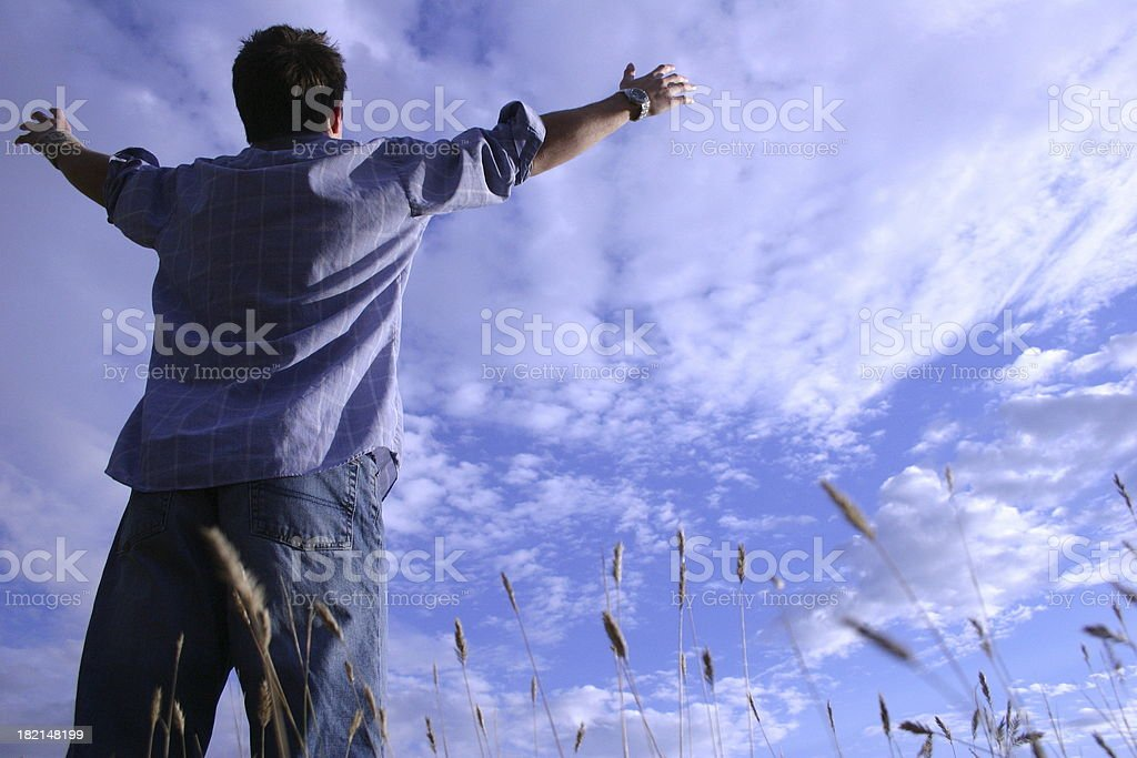 Worship in the wheat royalty-free stock photo