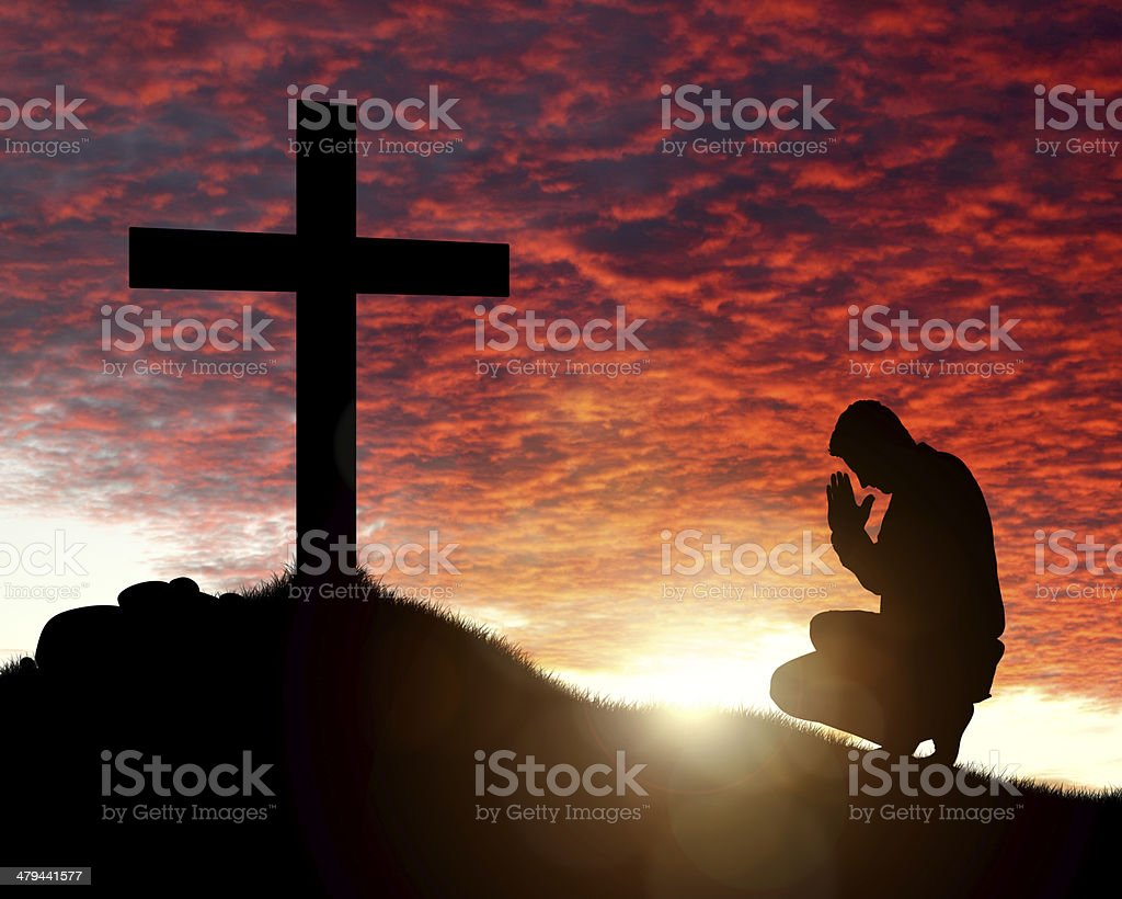 Worship, love and spirituality stock photo