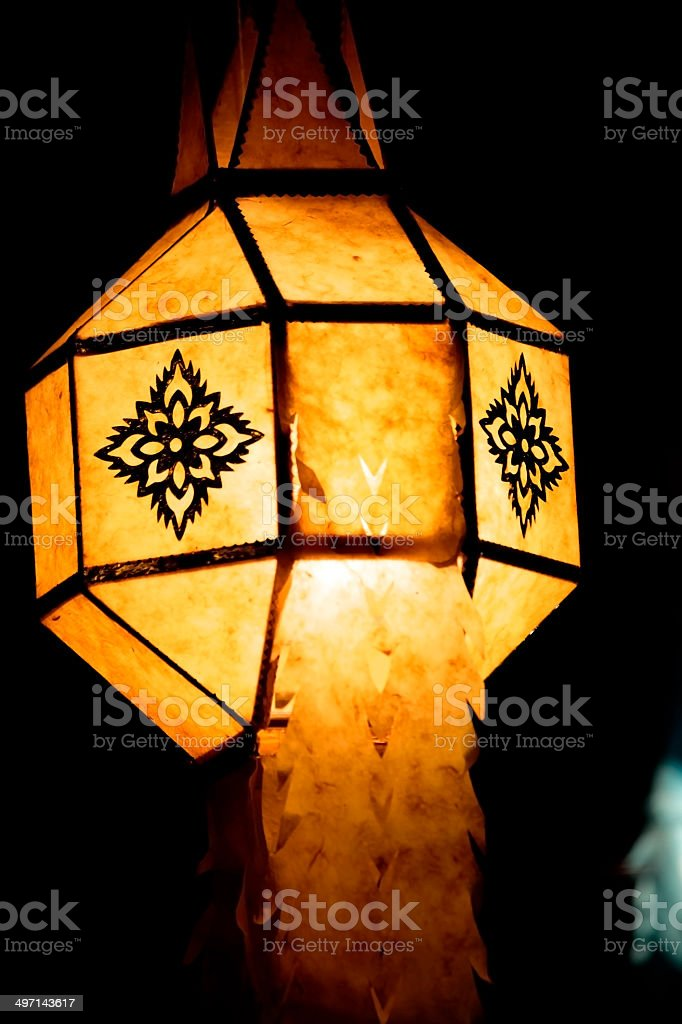 Worship of the lamp stock photo