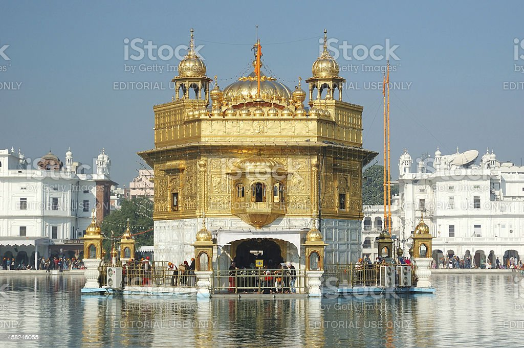 Worshipers visiting Golden Temple - Sikh's sacred place,Amritsar,India royalty-free stock photo