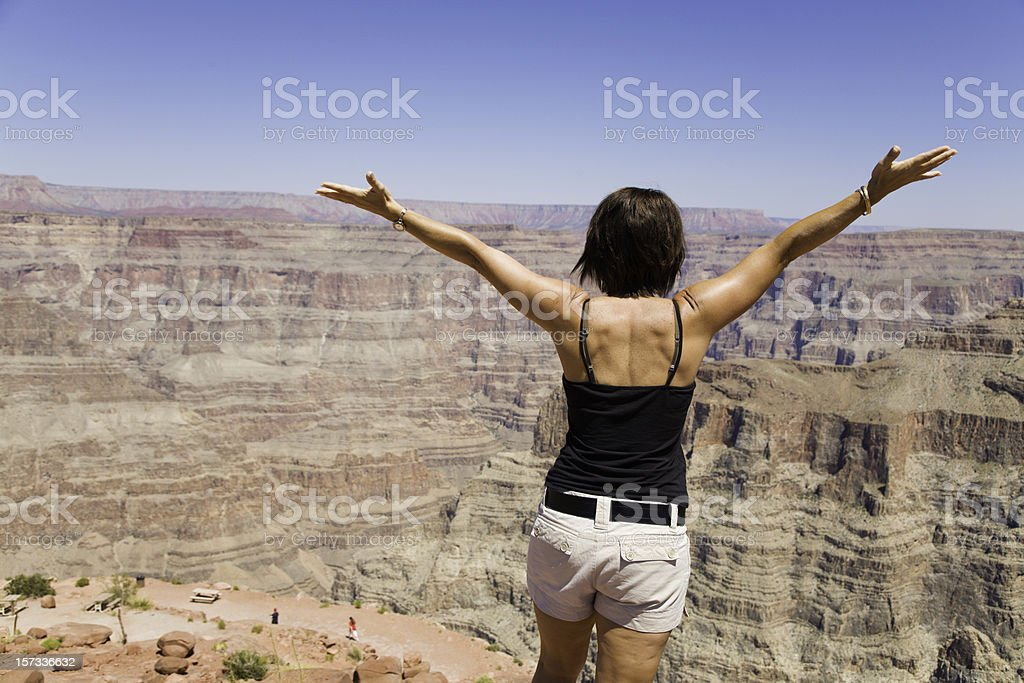 Worshiping at God's Wonder royalty-free stock photo