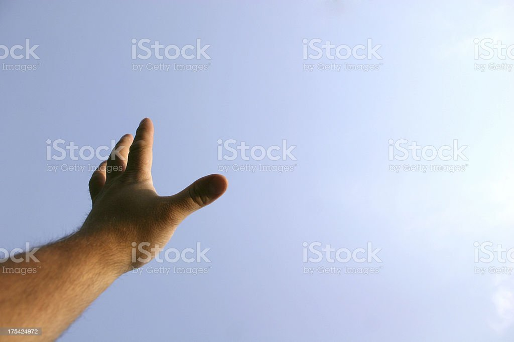 Worshiping Hands 2 royalty-free stock photo