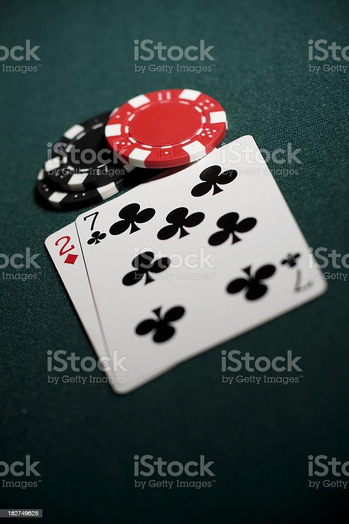 Worst Poker Hand stock photo
