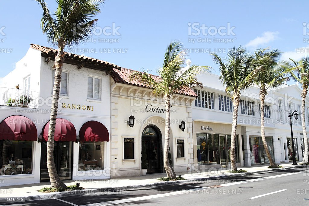 Worth Avenue, Palm Beach Florida stock photo