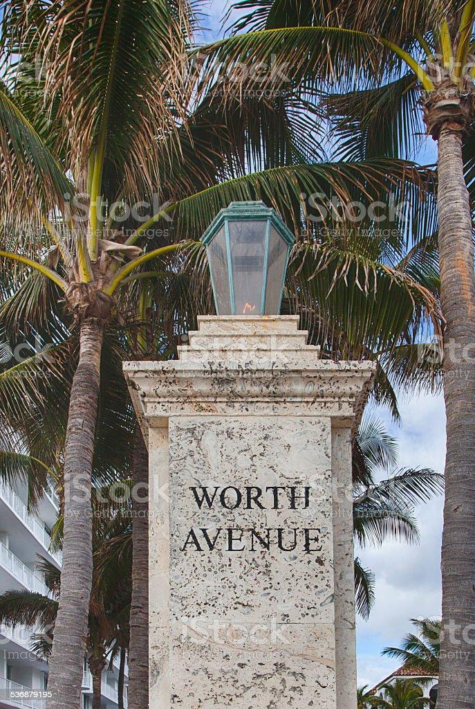 Worth Avenue stock photo