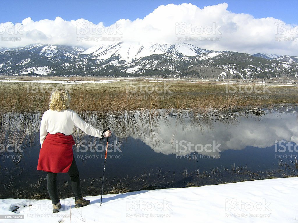 Worth the Hike stock photo