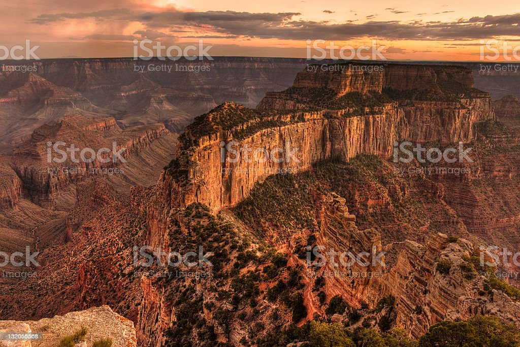 Wotan's Throne, Cape Royal, Grand Canyon National Park royalty-free stock photo