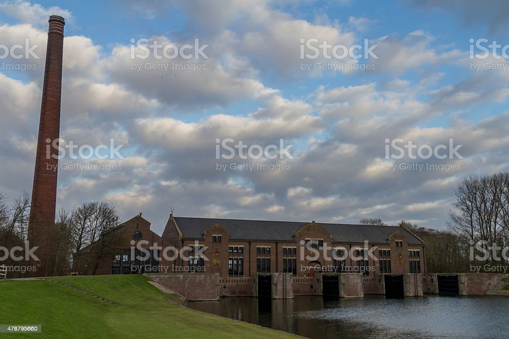 Wouda pumping-station at Lemmer, seaside. stock photo