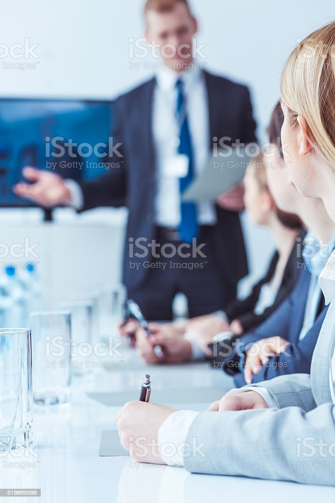 I would like to present our new strategy stock photo