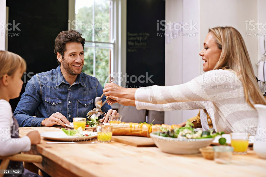 Would you like a bit more? stock photo
