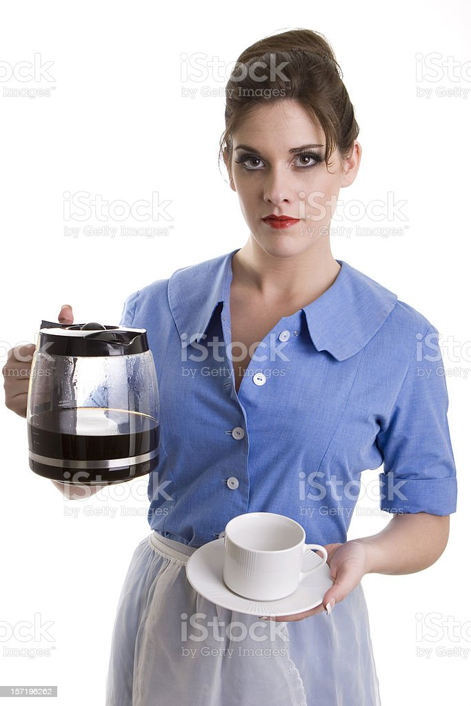 Would you like a cup of coffee royalty-free stock photo