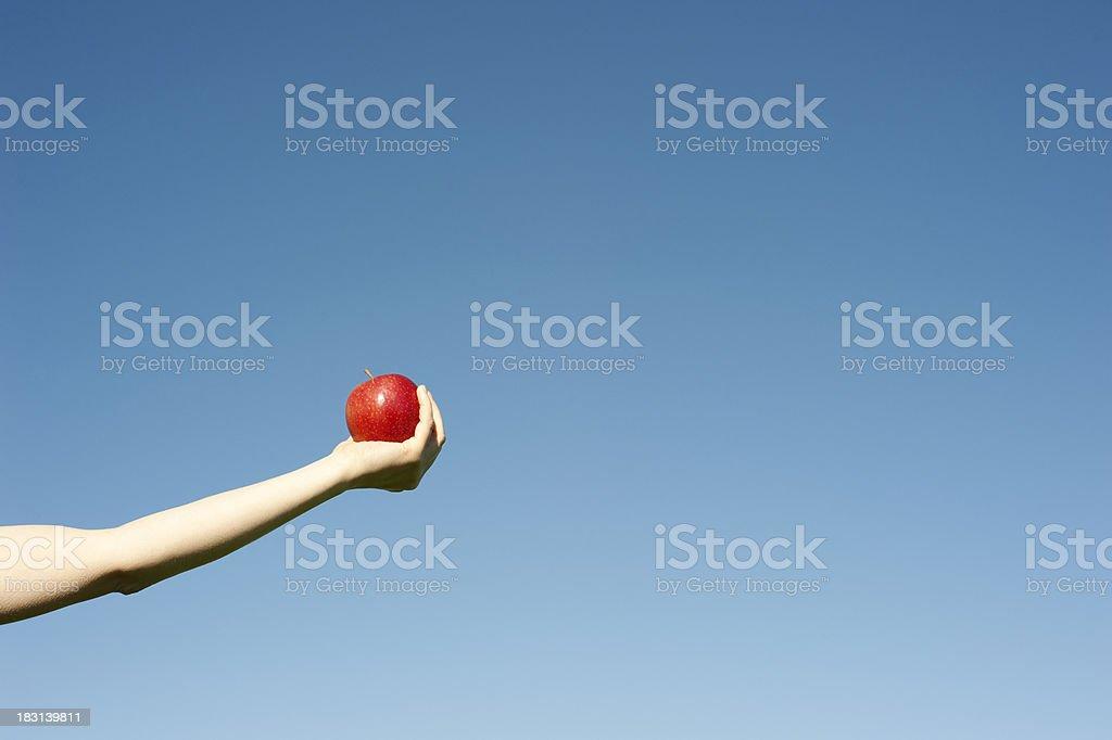 Would you like an apple - horizontal stock photo