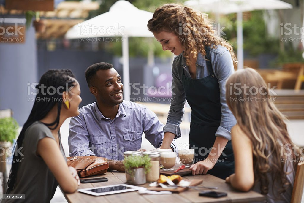 Would you like anything else? stock photo