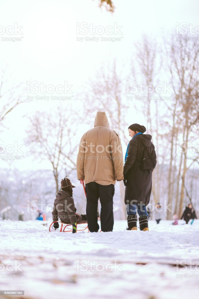 Would You Like Sliding On That Hill? stock photo