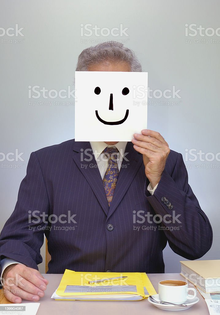 Would you trust this man? stock photo