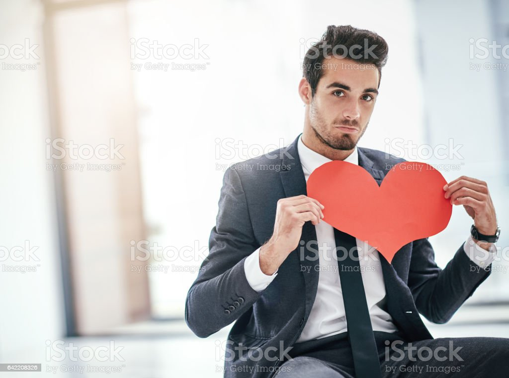 I wouldn't mind a little office romance stock photo
