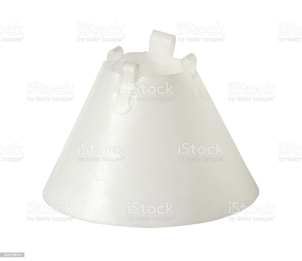 Wound healing cone, elizabethan collar stock photo