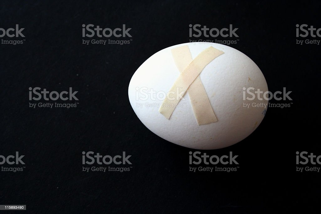 wounded egg royalty-free stock photo