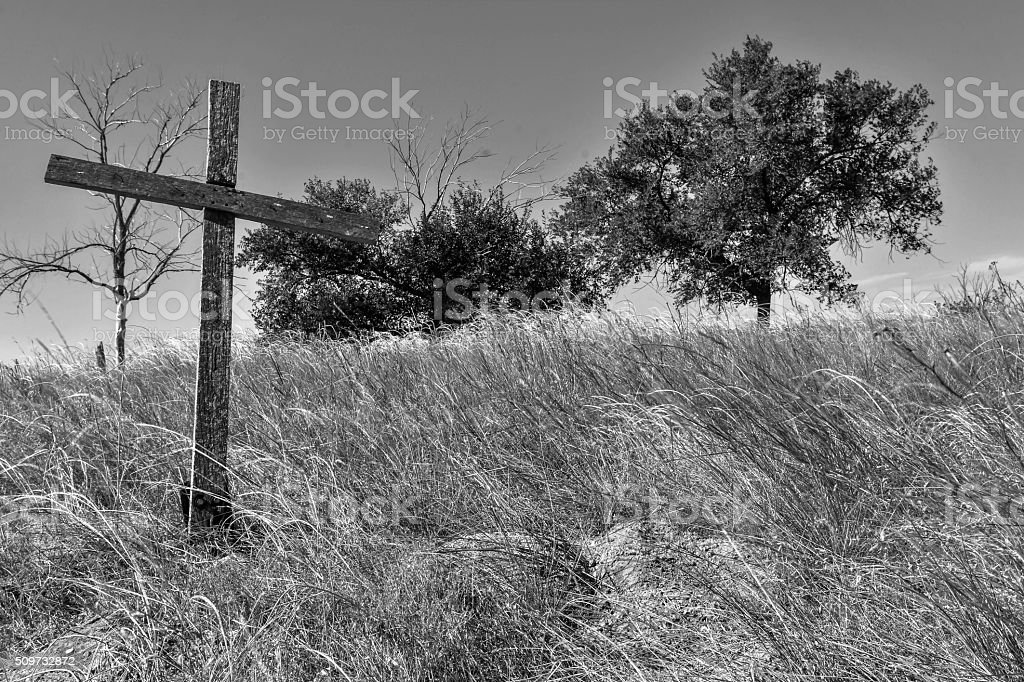 Wounded Knee. stock photo