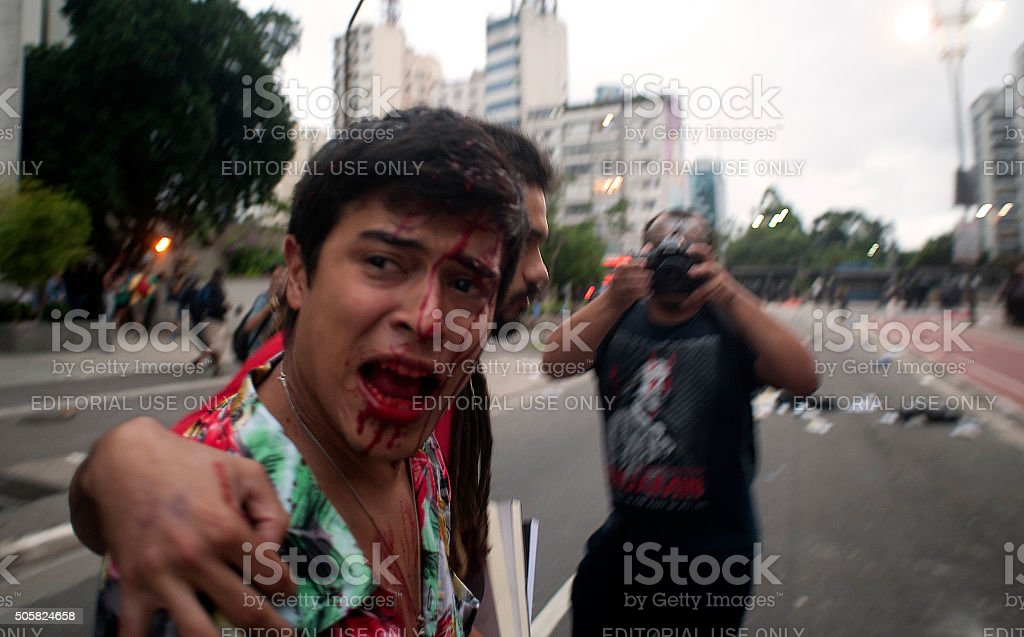 wounded Man stock photo