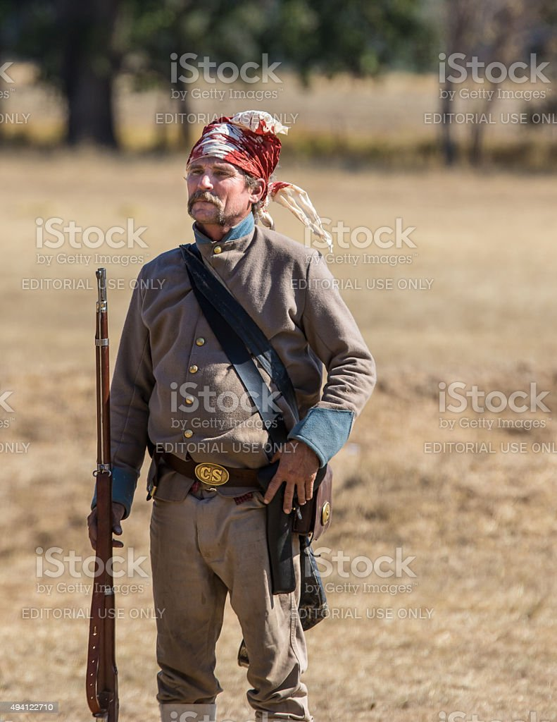 Wounded Soldier stock photo