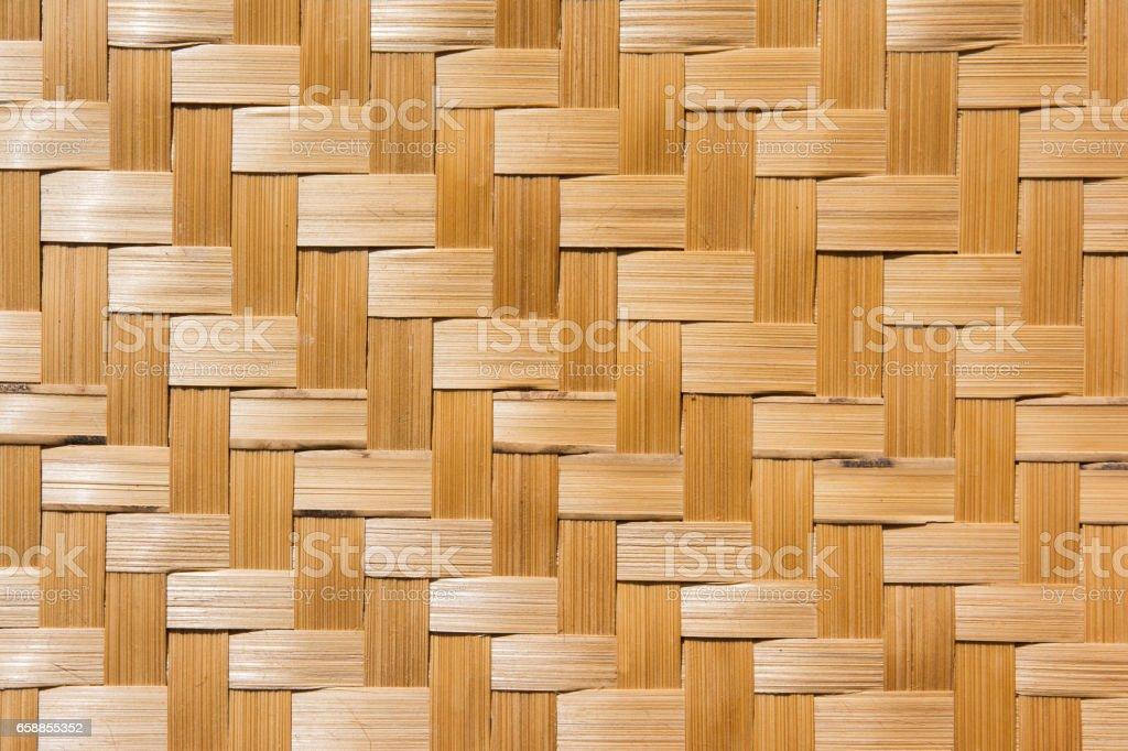 Woven bamboo background.Woven bamboo texture stock photo