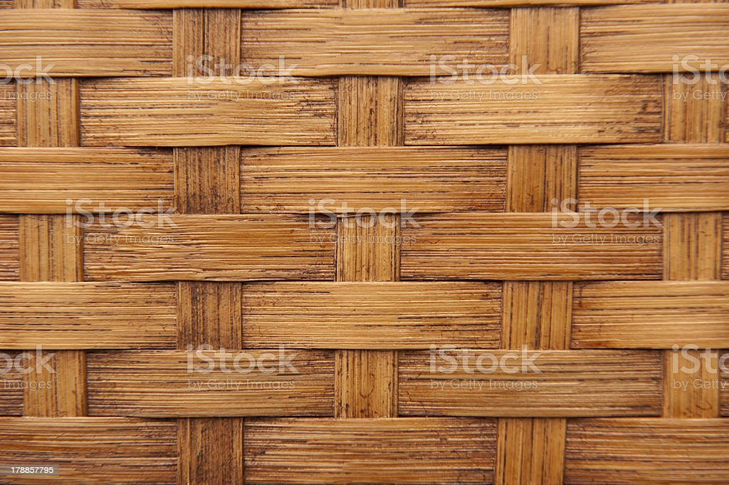 Woven bamboo, light brown texture royalty-free stock photo