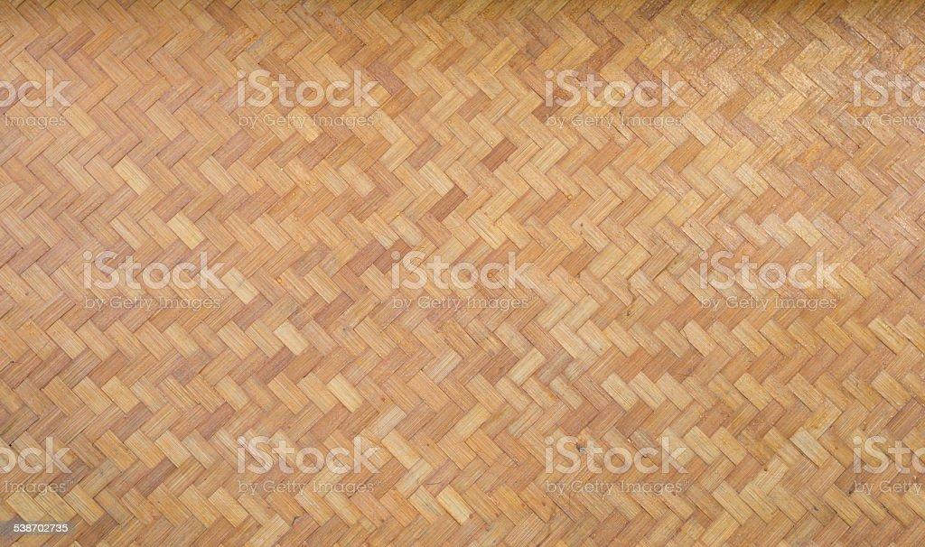 Woven Bamboo Mat. stock photo