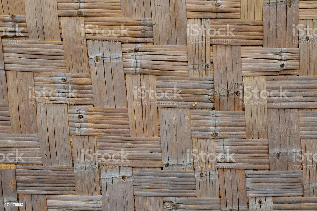 Woven bamboo old background royalty-free stock photo