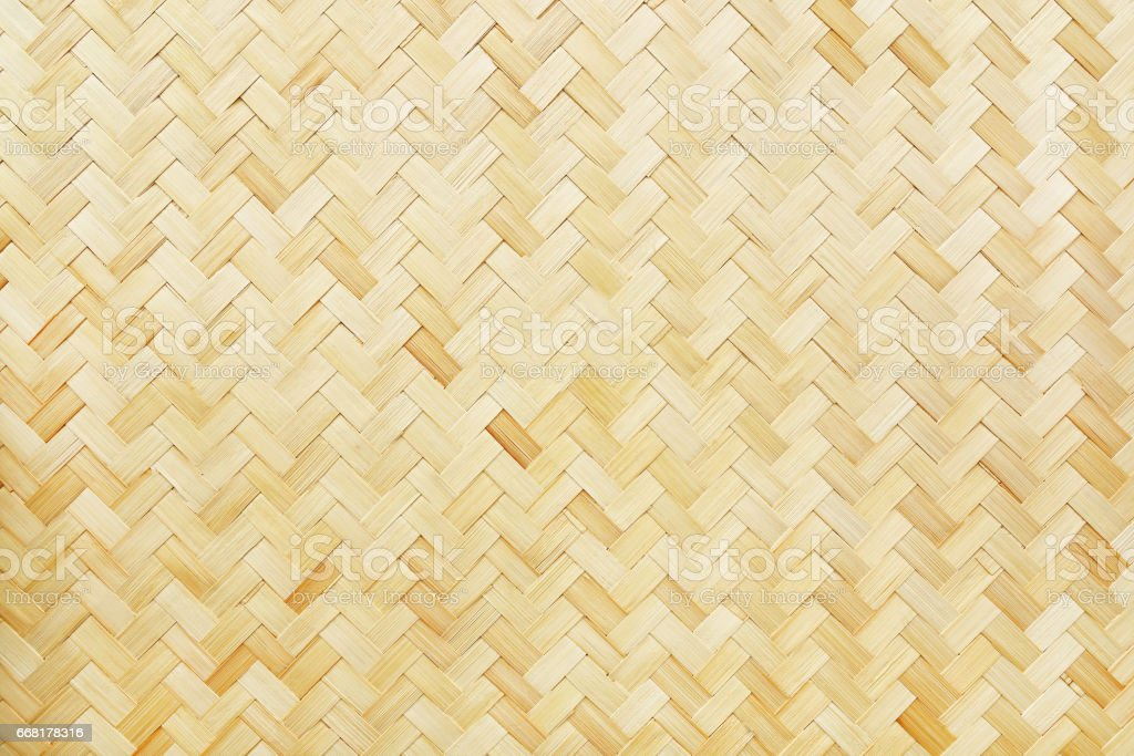 woven bamboo texture for background and design stock photo