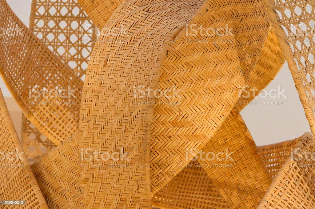 Woven bamboo wallpaper stock photo