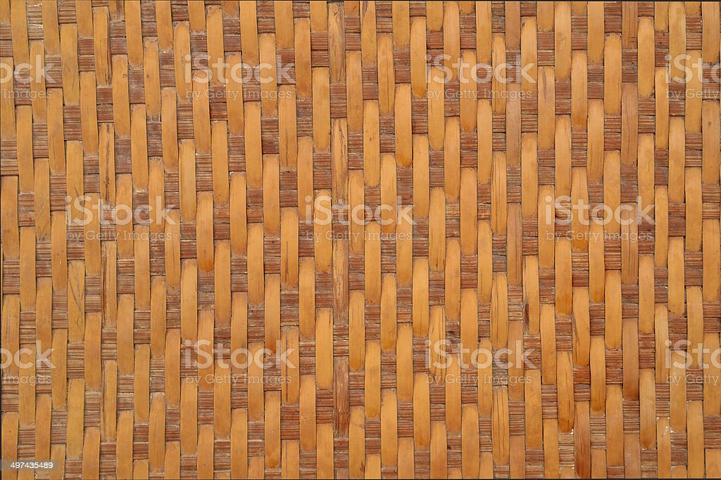 Woven bamboo waves royalty-free stock photo