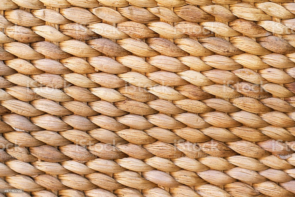 Woven Basket Close-Up Full Frame Background Texture stock photo