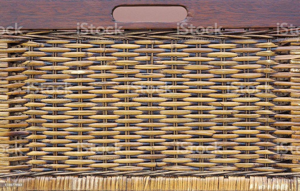 Woven basket drawer stock photo