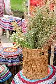 Woven basket handmade