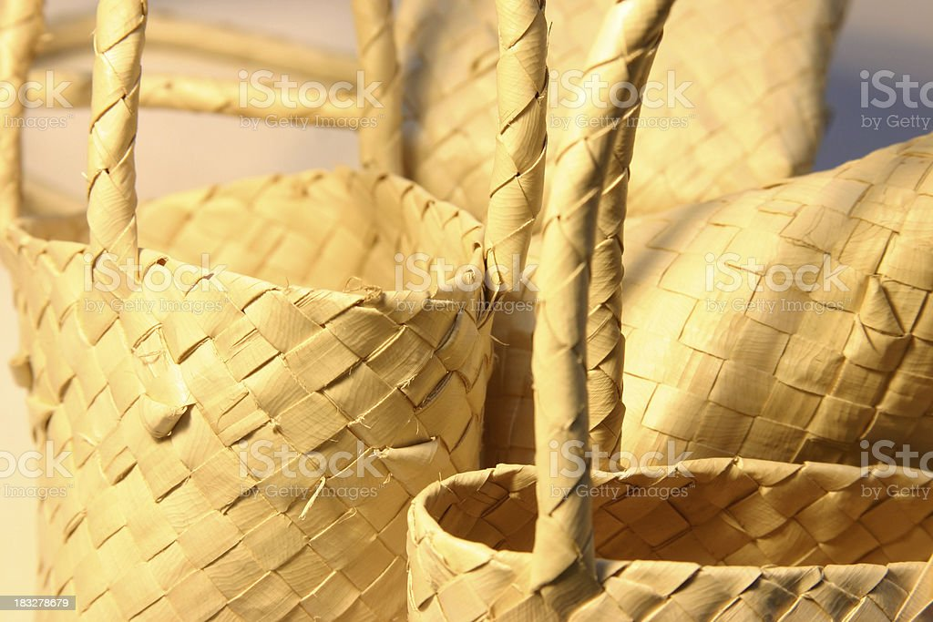 Woven Baskets royalty-free stock photo