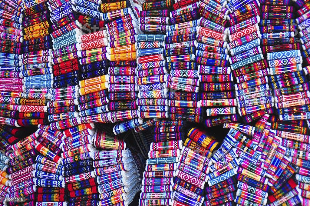 Woven belts stock photo