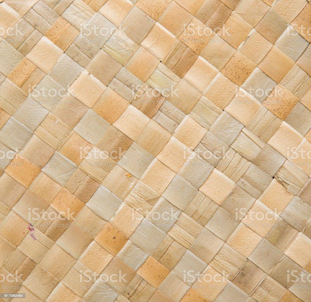 Woven birch bark surface stock photo