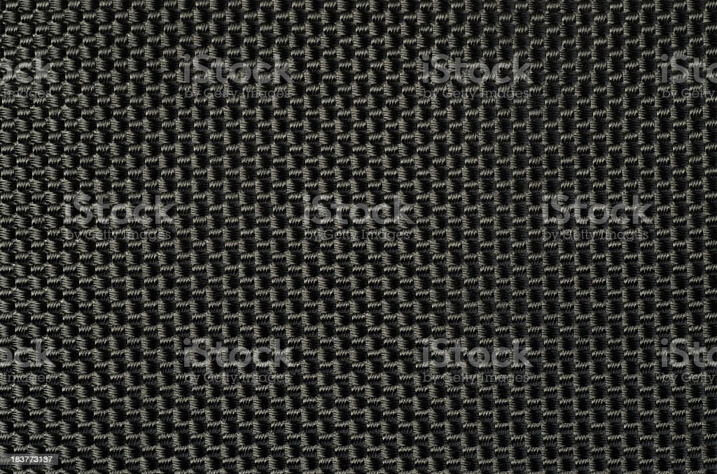 Woven black webbing. stock photo