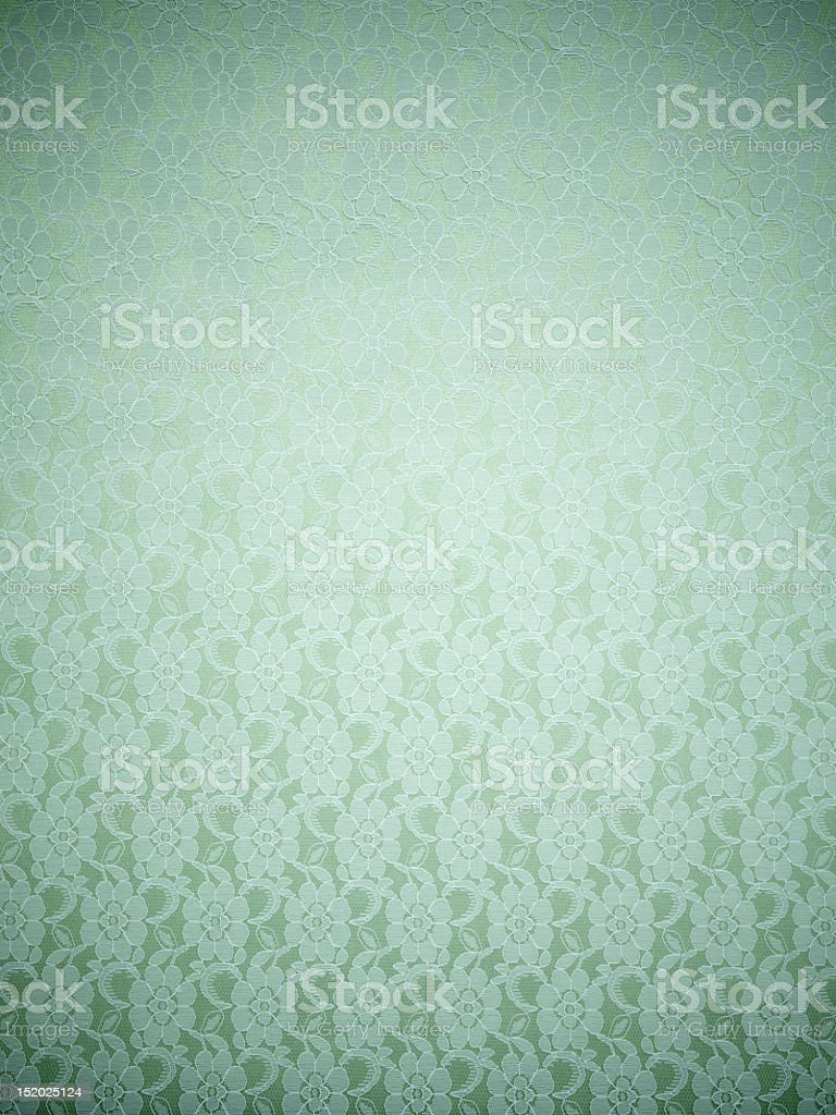 Woven brocade flower fabric pattern in duck egg blue royalty-free stock photo